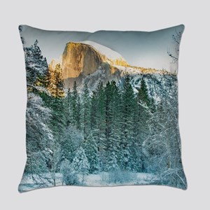 Half Dome in Winter Everyday Pillow