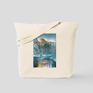 Half Dome in Winter Tote Bag