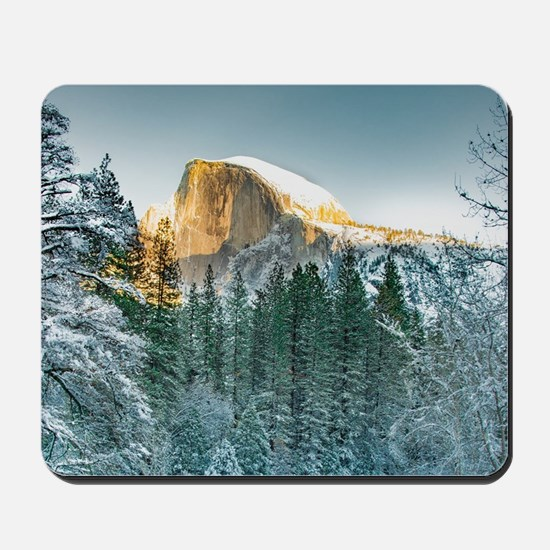 Half Dome in Winter Mousepad