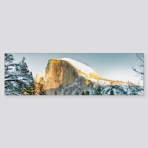 Half Dome in Winter Bumper Sticker