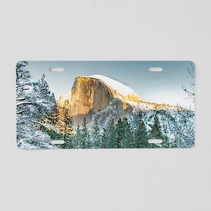 Half Dome in Winter Aluminum License Plate