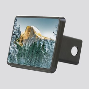 Half Dome in Winter Rectangular Hitch Cover