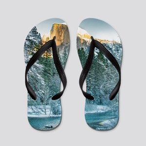 Half Dome in Winter Flip Flops