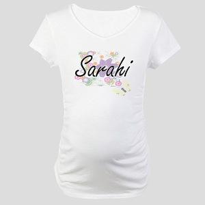 Sarahi Artistic Name Design with Maternity T-Shirt