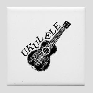 Ukulele Text And Image Tile Coaster