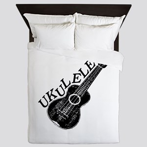 Ukulele Text And Image Queen Duvet