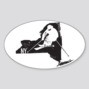 Ski New York Sticker (Oval)