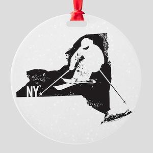 Ski New York Round Ornament