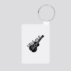 Ukulele Text And Image Keychains