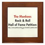 Monkees Rock & Roll Hall of F Framed Tile