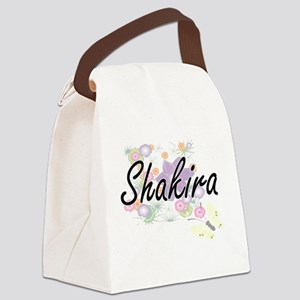 Shakira Artistic Name Design with Canvas Lunch Bag