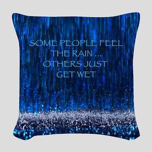 Uwl Feel The Rain Woven Throw Pillow