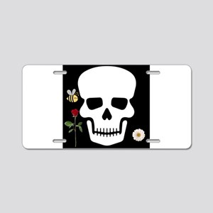Abby Skull Aluminum License Plate