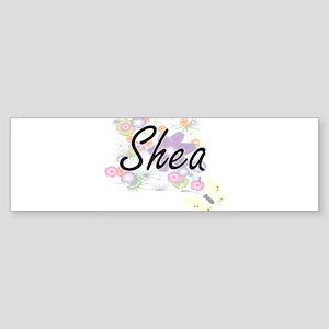 Shea Artistic Name Design with Flow Bumper Sticker