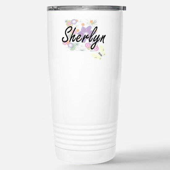 Sherlyn Artistic Name D Stainless Steel Travel Mug
