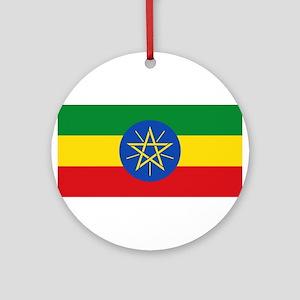 Ethiopia Flag Round Ornament