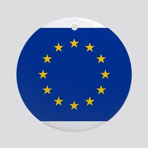 European Union Flag Round Ornament
