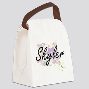 Skyler Artistic Name Design with Canvas Lunch Bag