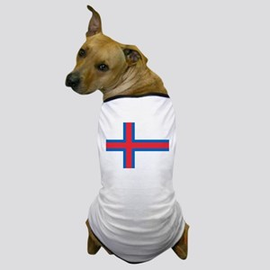 Faroe Islands Flag Dog T-Shirt
