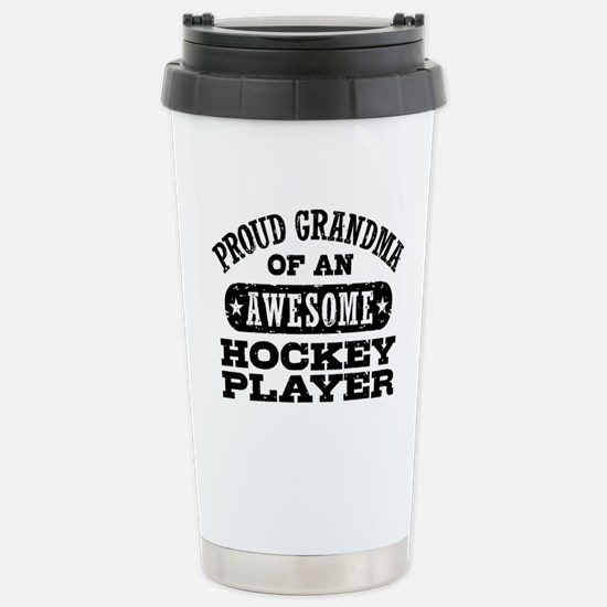 Hockey Grandma Stainless Steel Travel Mug