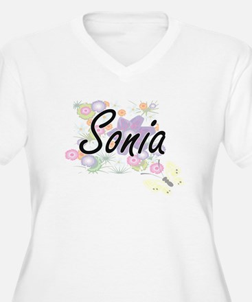 Sonia Artistic Name Design with Plus Size T-Shirt