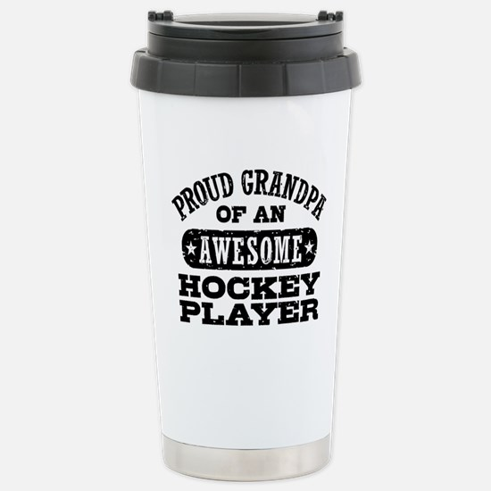 Hockey Grandpa Stainless Steel Travel Mug