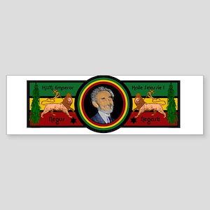 Smile Selassie Bumper Sticker
