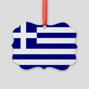 Greece Flag Ornament