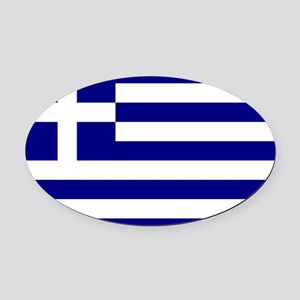 Greece Flag Oval Car Magnet