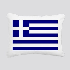 Greece Flag Rectangular Canvas Pillow