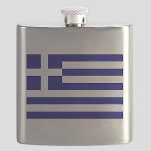 Greece Flag Flask