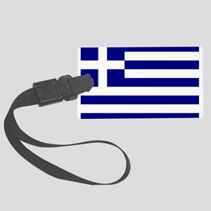 Greece Flag Luggage Tag