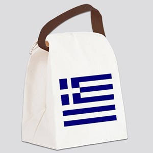 Greece Flag Canvas Lunch Bag