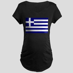 Greece Flag Maternity T-Shirt