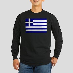 Greece Flag Long Sleeve T-Shirt