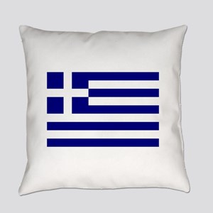 Greece Flag Everyday Pillow