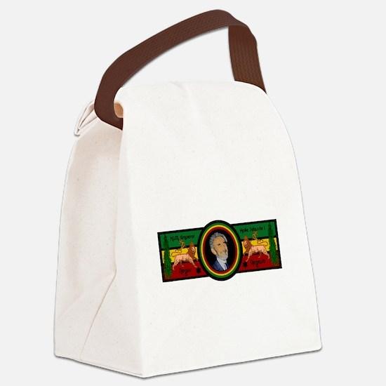 Smile Selassie Canvas Lunch Bag