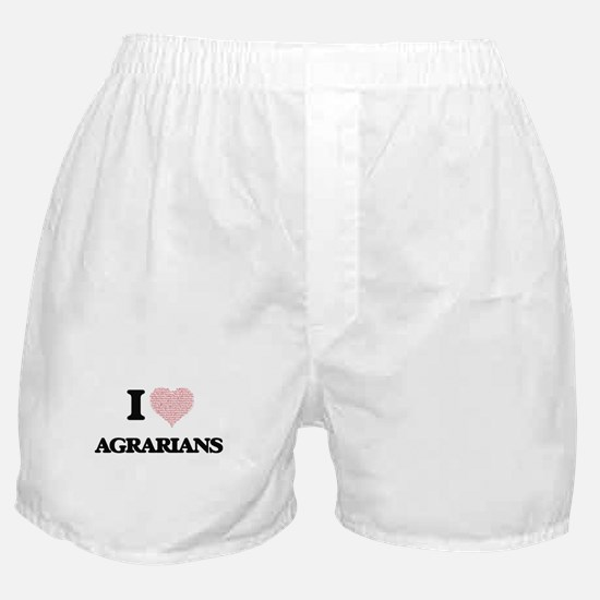 I love Agrarians (Heart made from wor Boxer Shorts