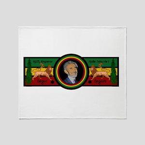 Smile Selassie Throw Blanket
