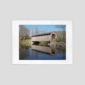 The Covered Bridge 5'x7'Area Rug