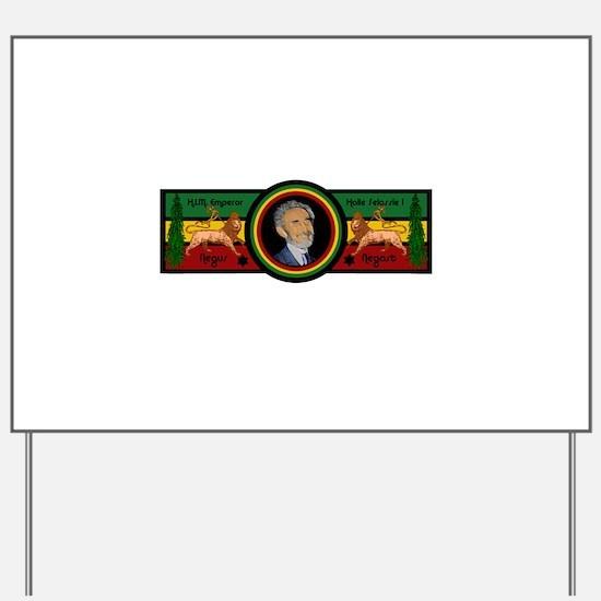 Smile Selassie Yard Sign