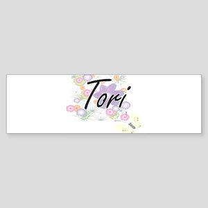 Tori Artistic Name Design with Flow Bumper Sticker