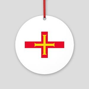 Guernsey Flag Round Ornament