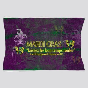 Mardi Gras Good Times Roll Pillow Case