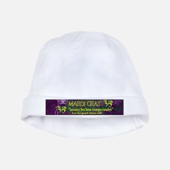 Mardi Gras Good Times Roll baby hat