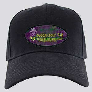Mardi Gras Good Times Roll Black Cap