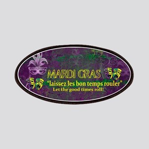 Mardi Gras Good Times Roll Patch