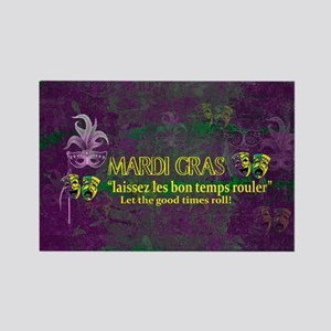 Mardi Gras Good Times Roll Magnets
