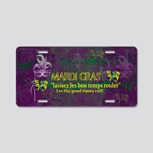Mardi Gras Good Times Roll Aluminum License Plate