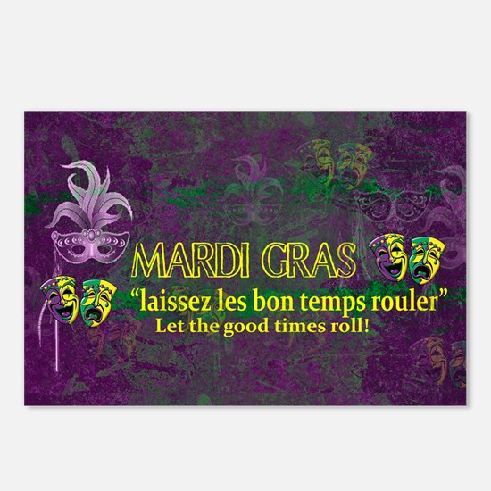 Mardi Gras Good Times Rol Postcards (Package of 8)